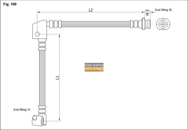 FT4738 размер шланга K&K с фото