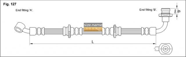 FT0071 размер шланга K&K с фото