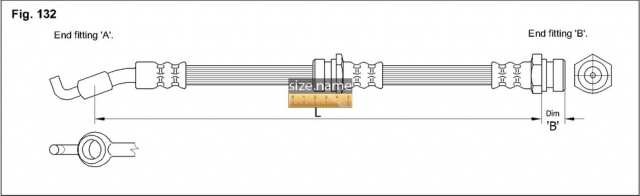 FT4722 размер шланга K&K с фото