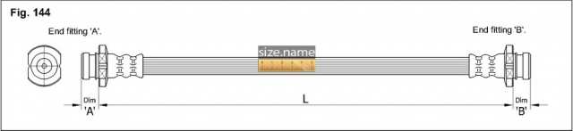 FT0610 размер шланга K&K с фото