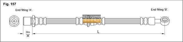 FT0505 размер шланга K&K с фото