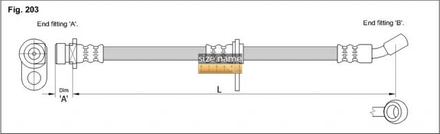 FT0151 размер шланга K&K с фото