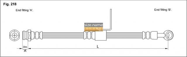 FT0218 размер шланга K&K с фото