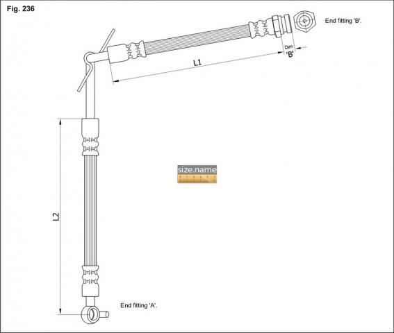 FT4066 размер шланга K&K с фото