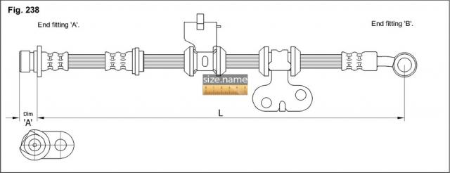 FT0292 размер шланга K&K с фото
