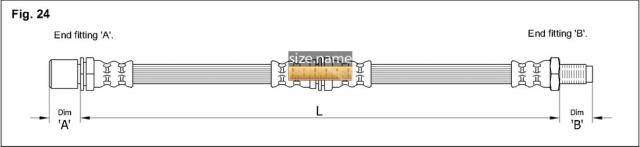 Шланг K&K fig. 24
