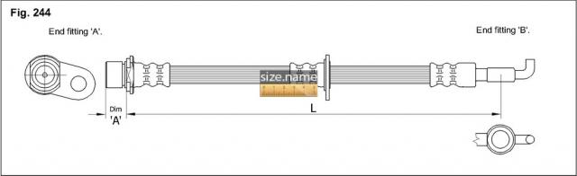 FT1430 размер шланга K&K с фото