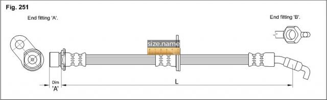 FT0063 размер шланга K&K с фото