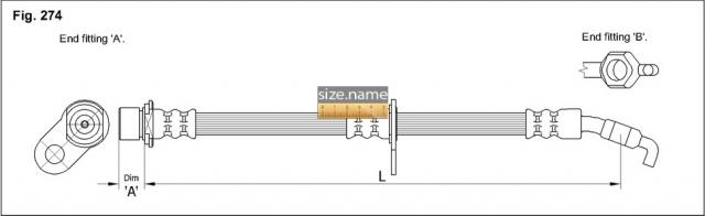 FT0036 размер шланга K&K с фото