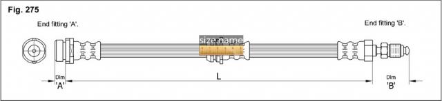 FT0038 размер шланга K&K с фото