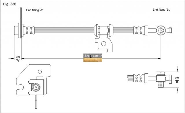 FT0172 размер шланга K&K с фото