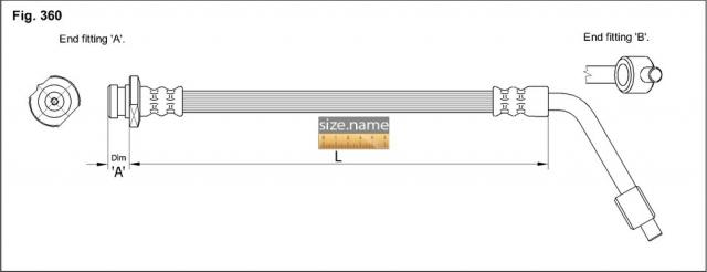 FT0466 размер шланга K&K с фото