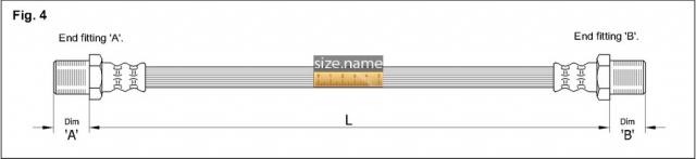 FT4662 размер шланга K&K с фото