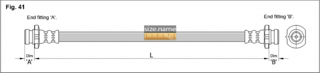 FT4801 размер шланга K&K с фото
