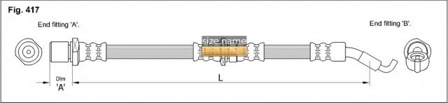 FT0794 размер шланга K&K с фото