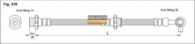 FT0696 размер шланга K&K с фото