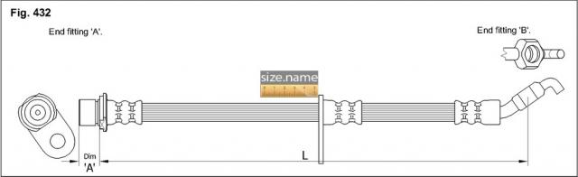 FT0764 размер шланга K&K с фото