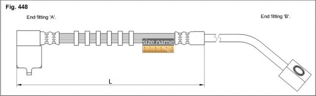 FT0684 размер шланга K&K с фото