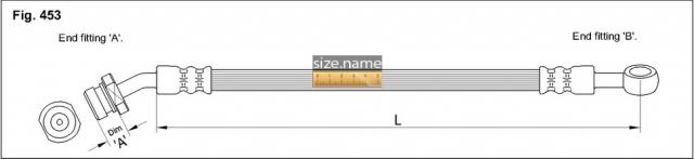 FT0836 размер шланга K&K с фото