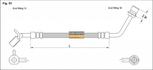 FT2318 размер шланга K&K с фото