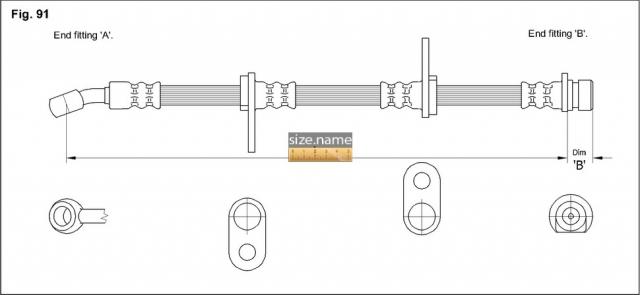 Шланг K&K fig. 91